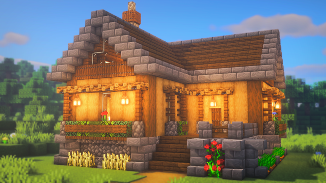 Minecraft house that is really simple to build and out e is amazing