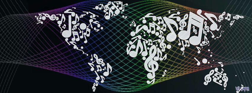 Music makes the world go round  Facebook Banner