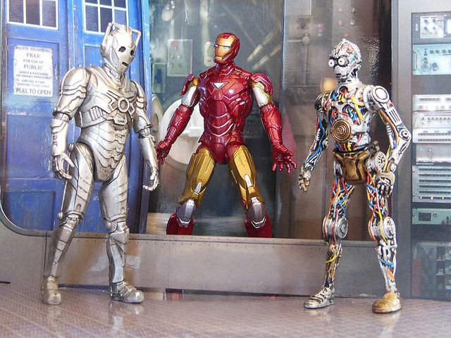 Cyberman C 3po And Ironman Cyberman Doctor Who Merchandise Iron Man