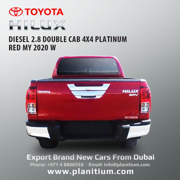 Toyota Hilux 2 8 Diesel Double Cab 4x4 Platinum Red My 2020 In 2020 Toyota Hilux Toyota Diesel