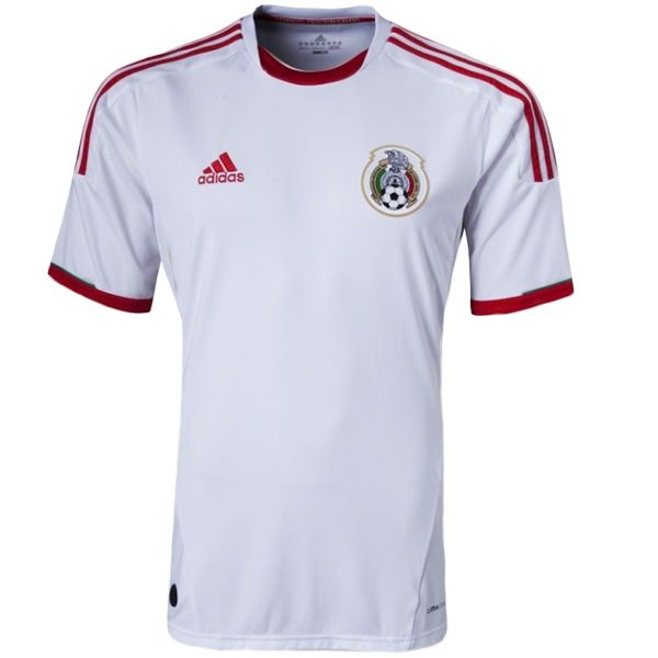 58645e47652 adidas Mexico 2013 3rd Jersey White Red Light Gold