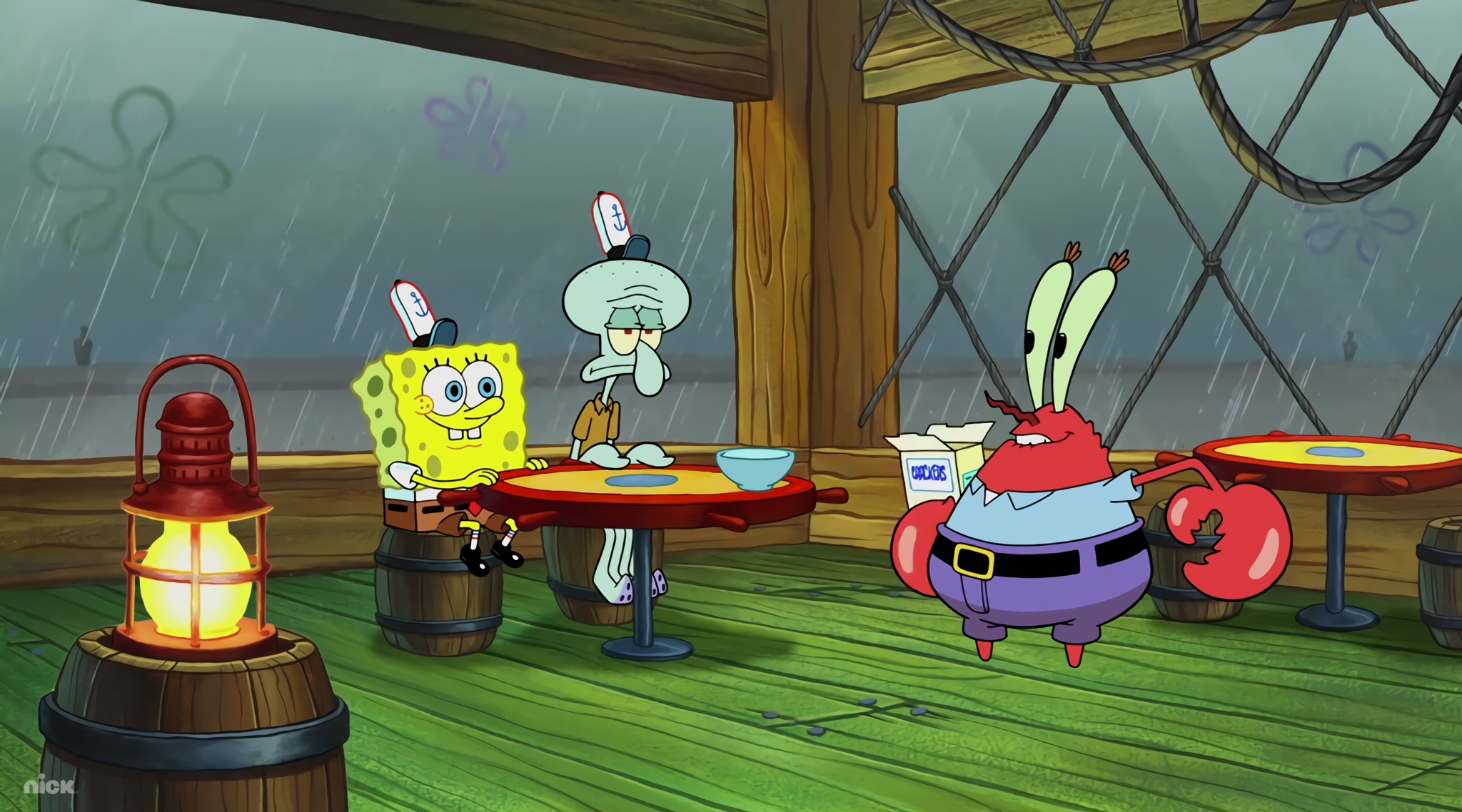 Rainy day at the Krusty Krab