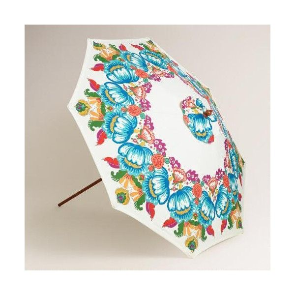 Cost Plus World Market Bella Floral 9 Ft Umbrella Canopy ($59) ❤ Liked On