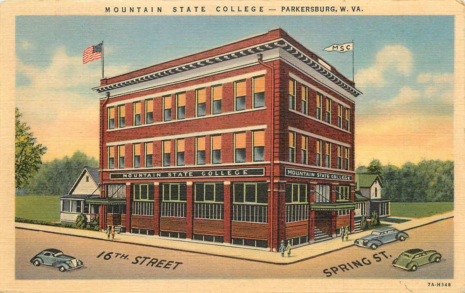 Parkersburg, WV Mountain State College 16th and Spring
