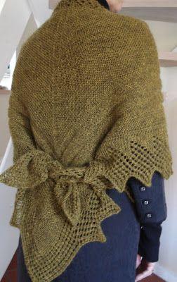 Knit forwards {understand backwards}: Kællingesjal 1897