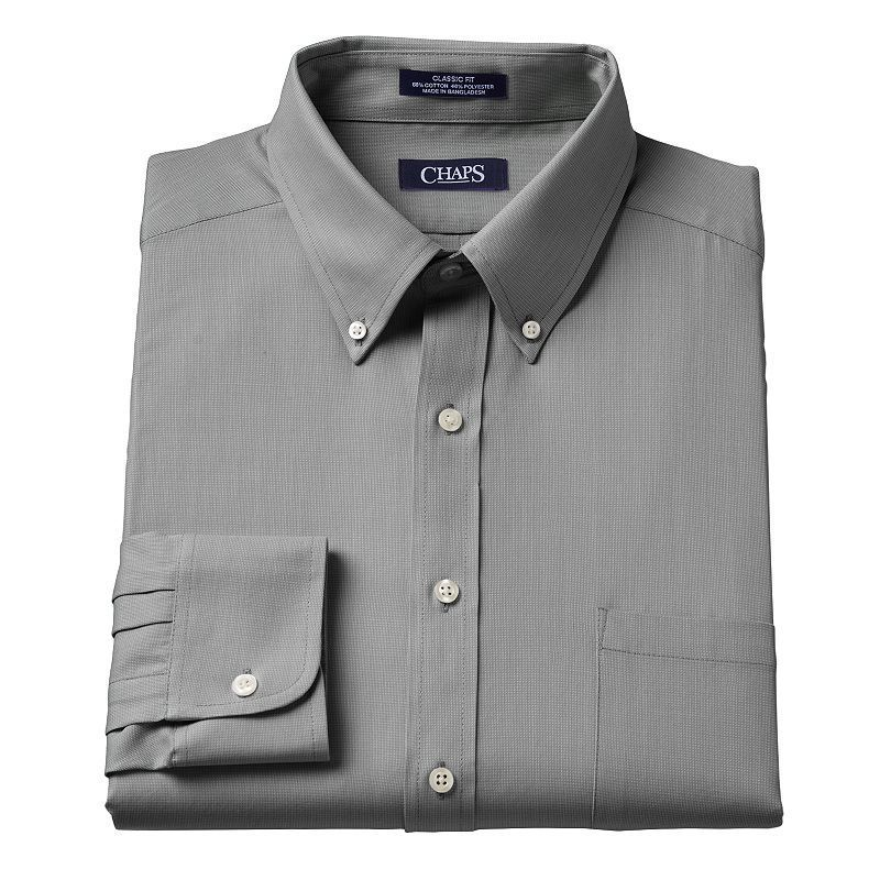 Chaps Mens Classic Fit Oxford Button Down Collar Casual Shirt