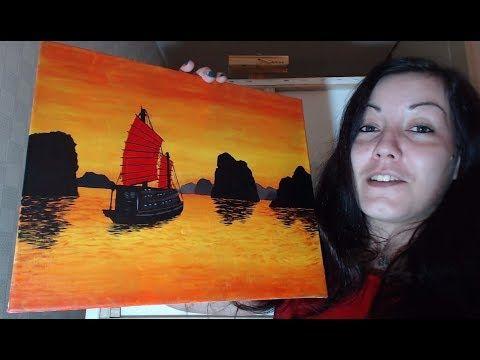 Paysage Marin Dasie Peinture Acrylique Youtube Acrylic