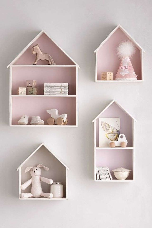 doll house shelves from ikea