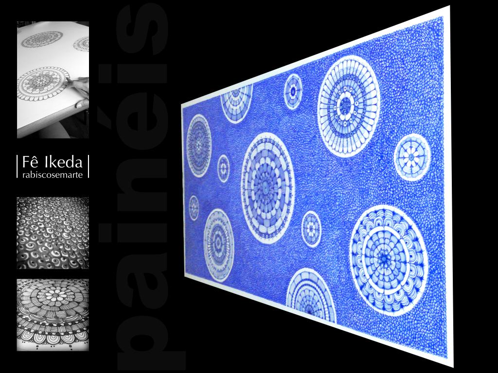 Painel 150x70cm - Azul  | Screen
