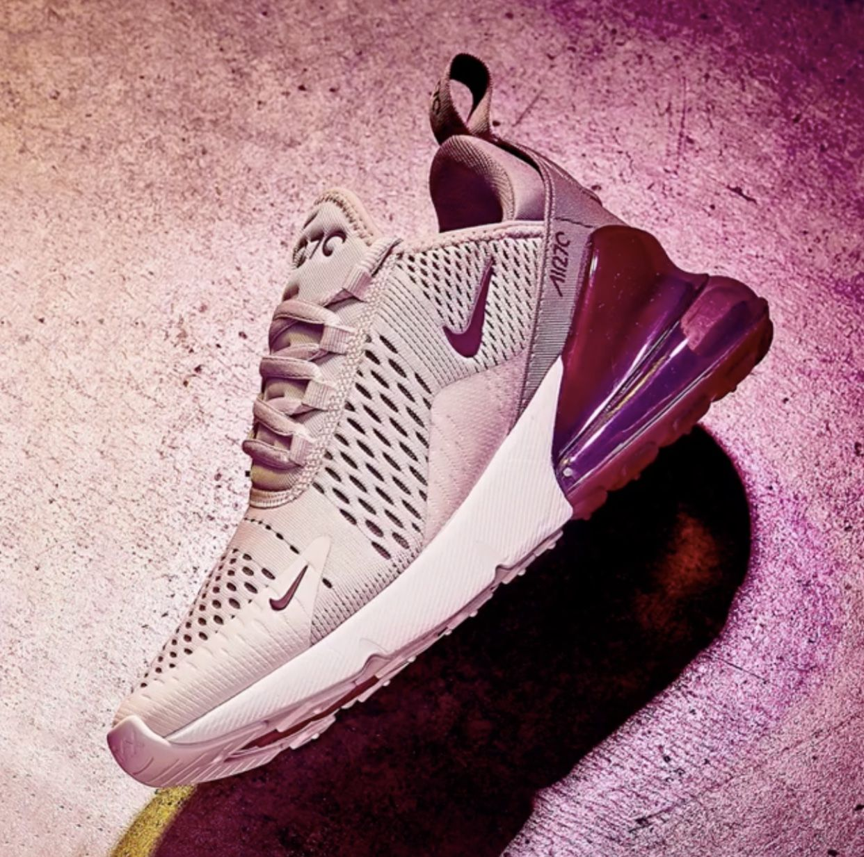Women s Nike Air Max 270 - Barely Rose Vintage Wine Elemental Rose White 56360cad1