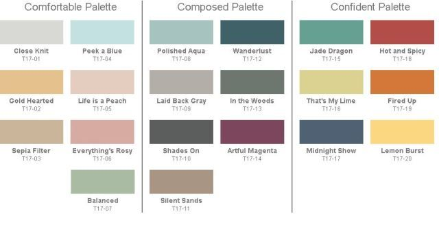 The Behr 2017 Color Trends Introduce 3 Beautiful Palettes Comprised Of 20 Paint Colors
