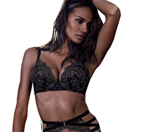 81ae3cfaa5 Victoria s Secret BOMBSHELL Add 2 Cups Chantilly Lace Push Up Bra 32 D at  Amazon Women s Clothing store