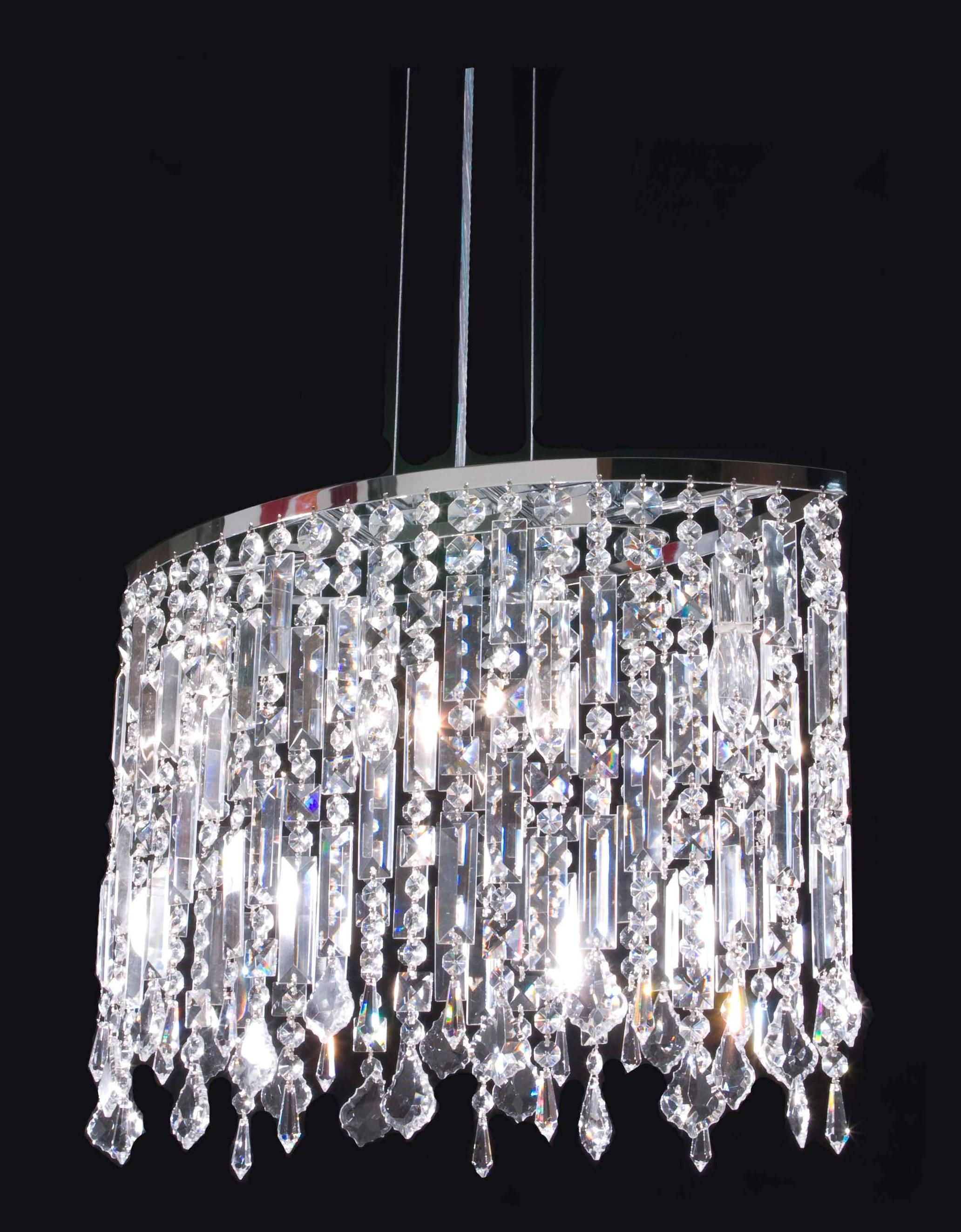James R Moder 4 Light Imperial Crystal Chandelier Style N9071