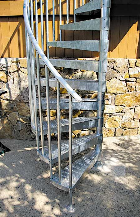 Best Sturdy Metal Stair Solutions Galvanized Stairs Exterior 400 x 300
