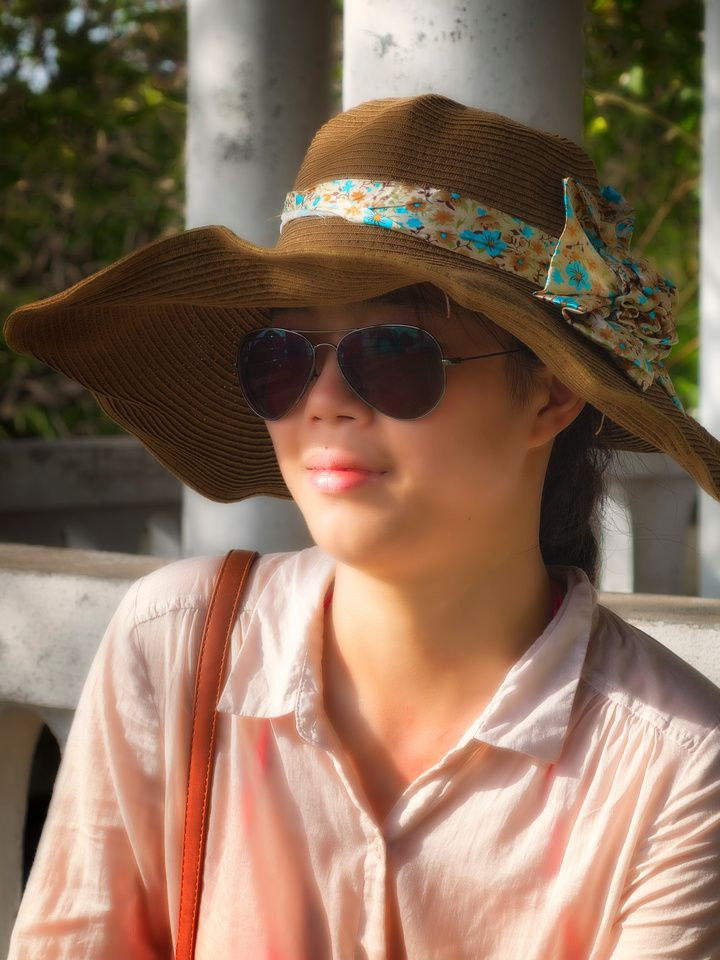 attractive Chinese Tourist promthep Cape Thailand