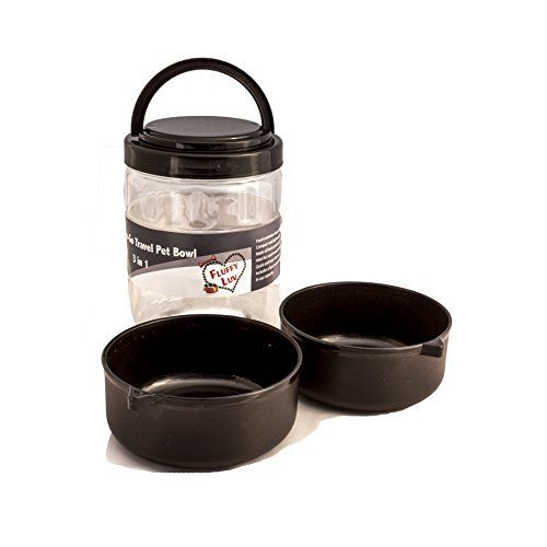 Pet Travel Bowl Portable Airtight Storage Container With Handle For Dog Puppy Black Fluffy Luv Http Www Amazon