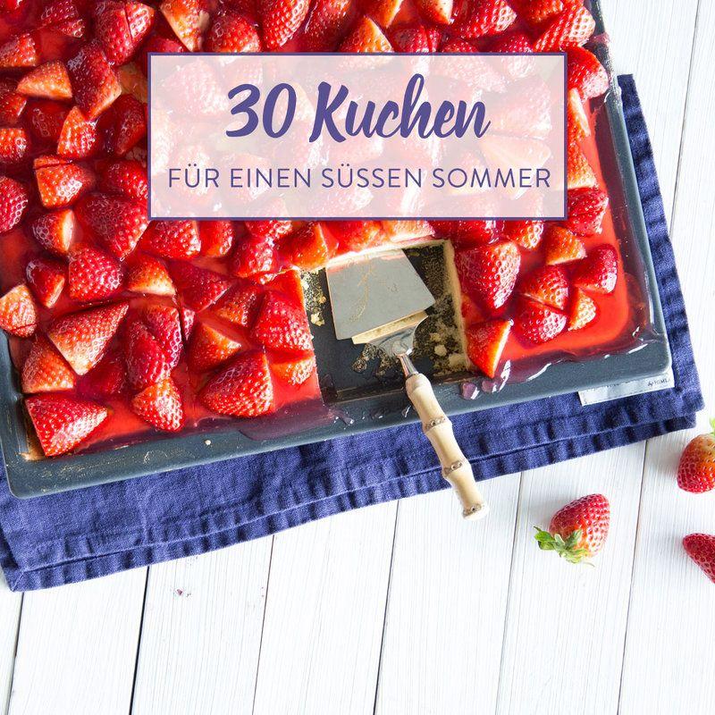 Sommer Im Viereck: Erdbeer-Becherkuchen Vom Blech