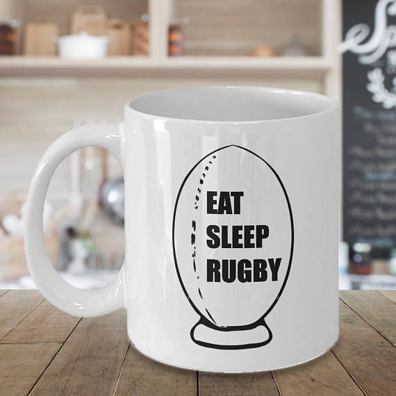Rugby Mug Eat Sleep Rugby Rugby Cup Rugby Gifts Rugby Initial Coffee Mugs Mugs Floral Initial