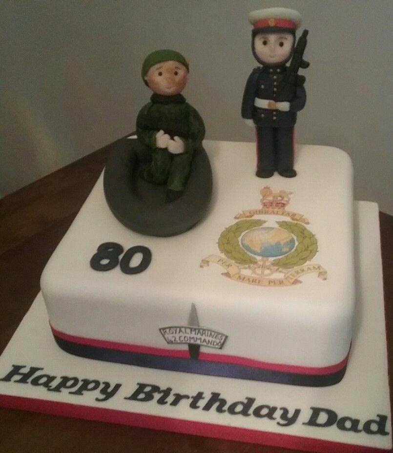 Royal Marines 80th Birthday Cake My Cakes Pinterest Birthday