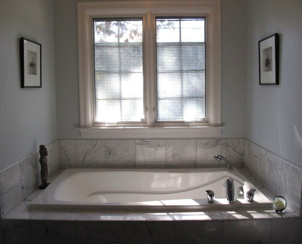 kohler archer Bathroom Transitional with carrara marble tile Kohler ...