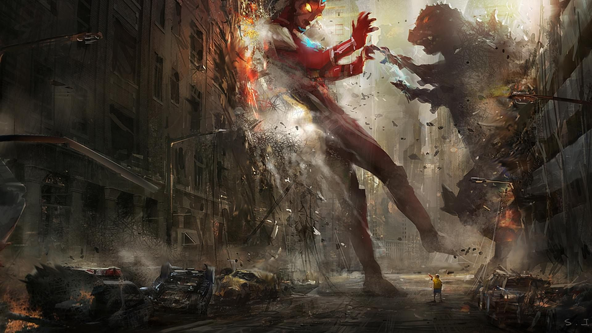 Godzilla vs Ultraman Wallpaper http//digitalart.io