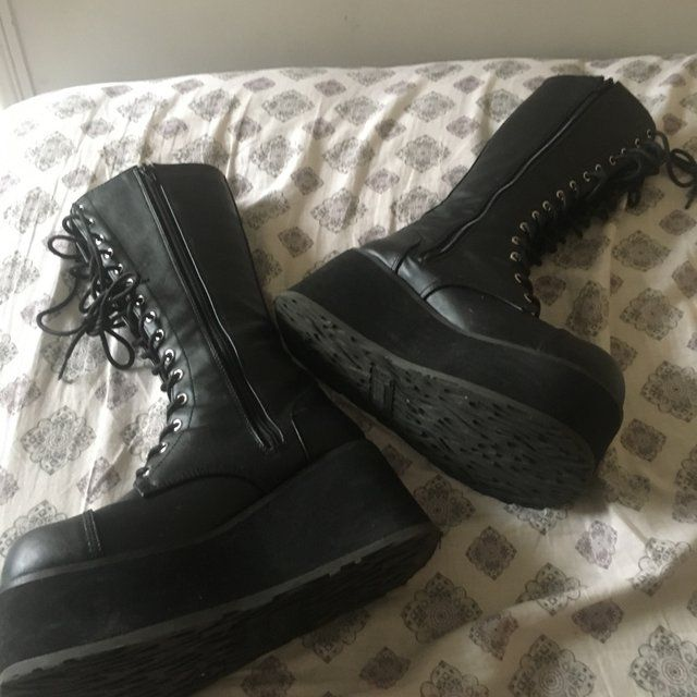 69c20527794 Demonia trashvilles only worn out once. Can come with box. - Depop ...