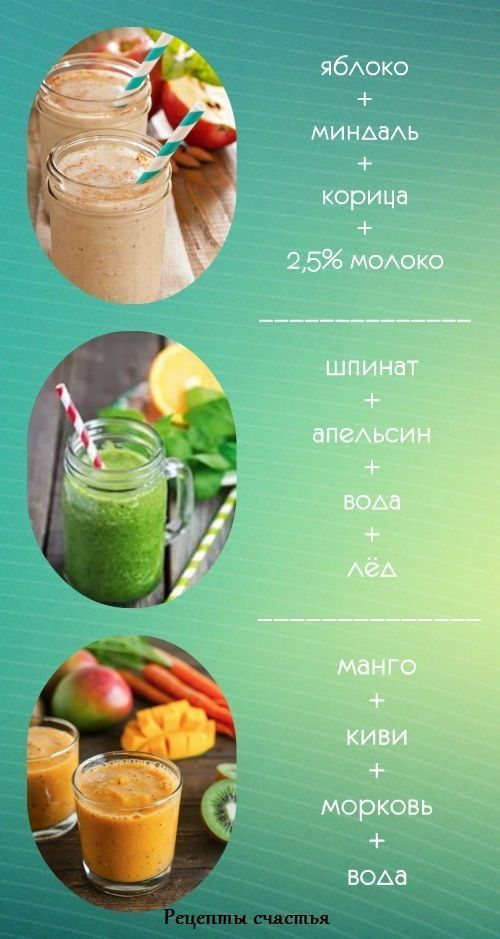 вкусные смузи для похудения