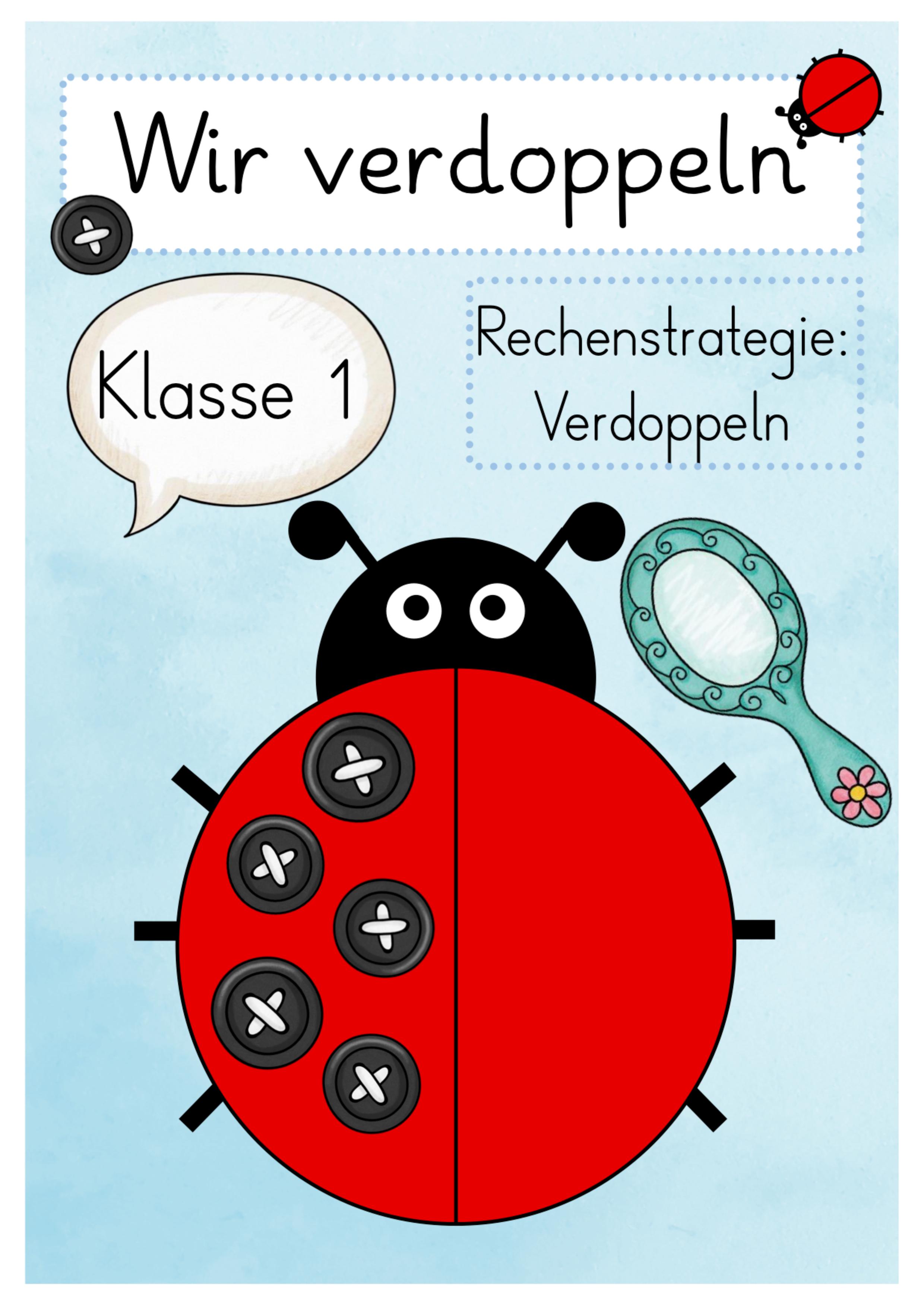 Marienkäferaufgaben   Verdopplung   Mathe unterrichten, Deutsch ...