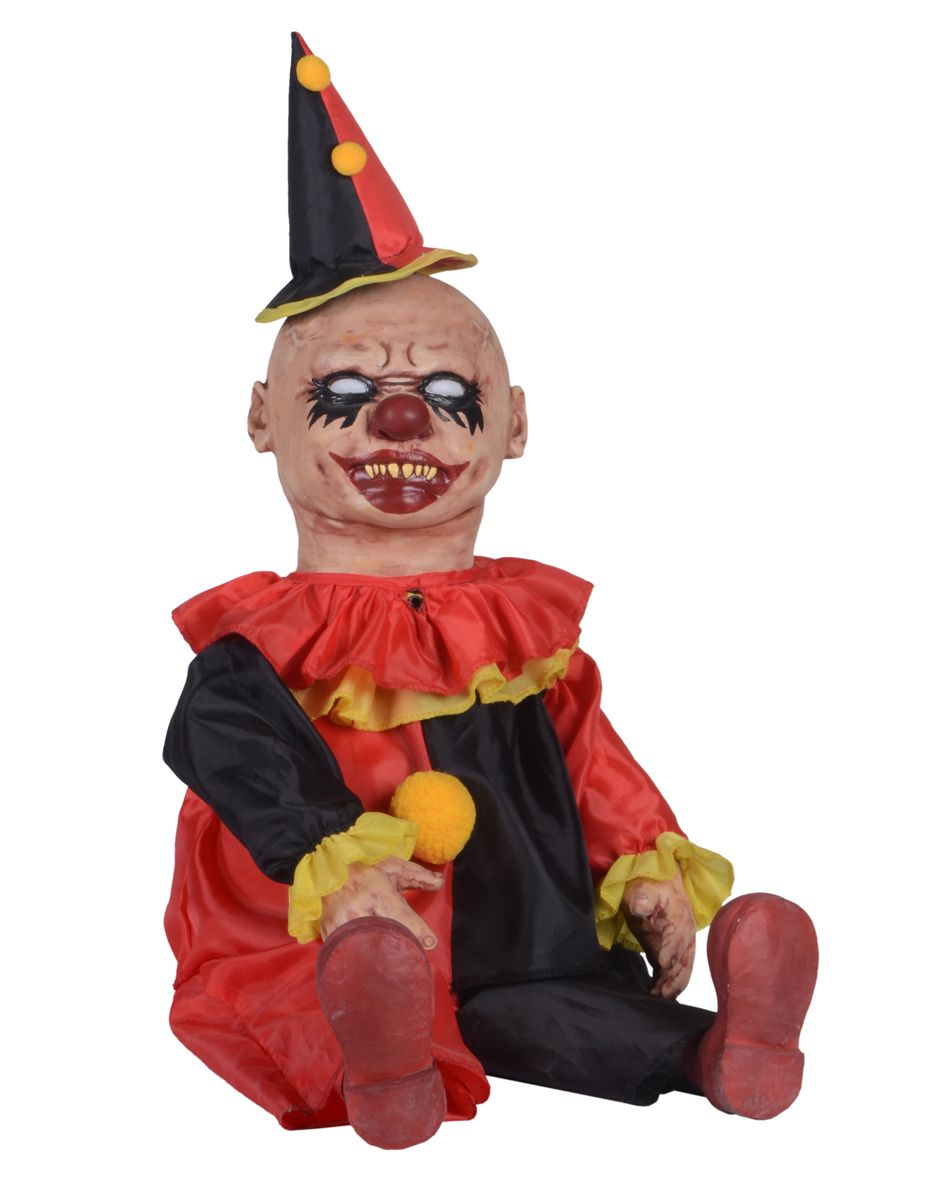 giggles clown zombie baby prop only at spirit halloween 5999 room 2 the freak show the craw and loupe all hallows een odditorium and little big top