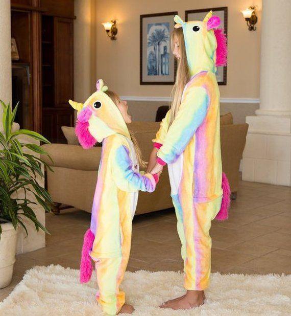 Rainbow Unicorn One piece Pajamas  22dd74ff3