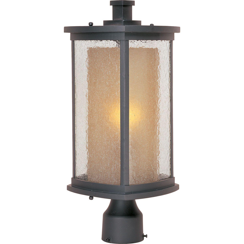 Bungalow Bronze One Light Outdoor Post Mount Maxim Lighting International