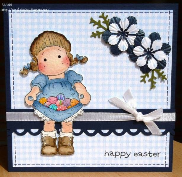 Easter cards with magnolia stamps