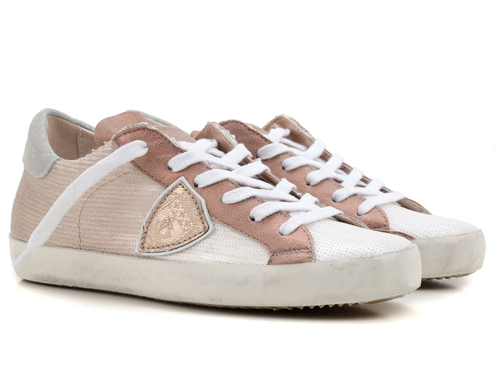 Sneakers for Women On Sale in Outlet, Cream, Leather, 2017, 3.5 Philippe Model