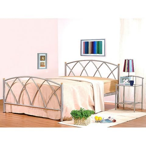 Alamo Double Metal Bed Frame – Next Day Delivery Alamo Double Metal ...