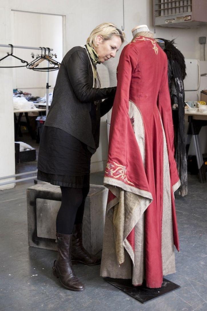 Costume Designer Working On Cersiu0027s Costume For Game Of Thrones