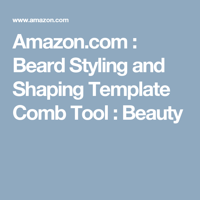 Amazon.com : Beard Styling and Shaping Template Comb Tool : Beauty