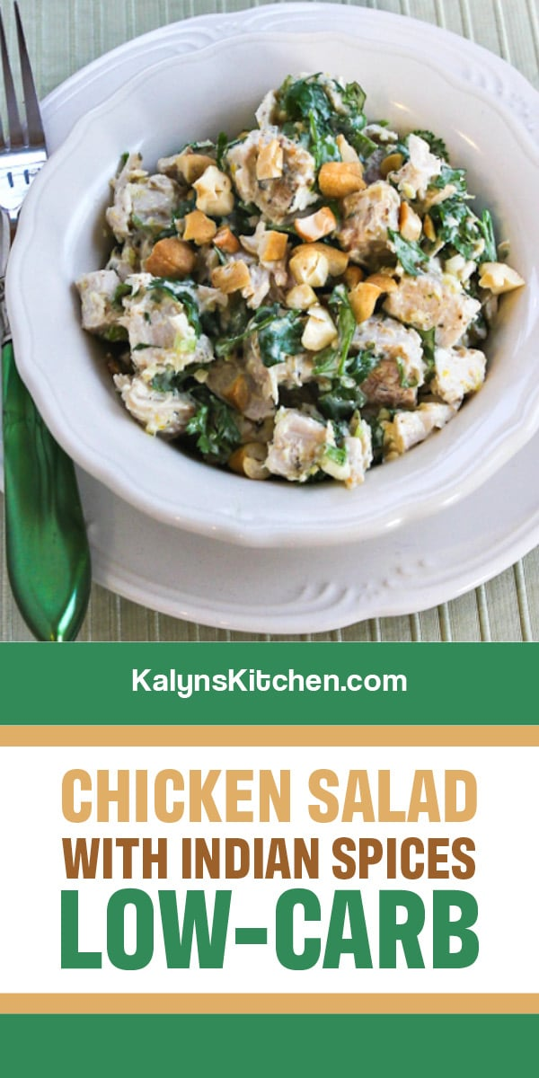 Chicken Salad With Indian Spices Video Kalyn S Kitchen Recipe In 2020 Diet Salad Recipes Low Carb Salad Best Salad Recipes