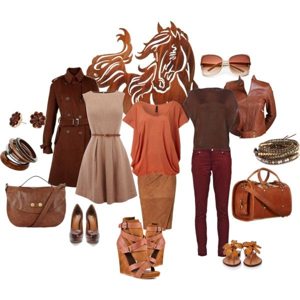Brown, created by peachpit0315.polyvore.com