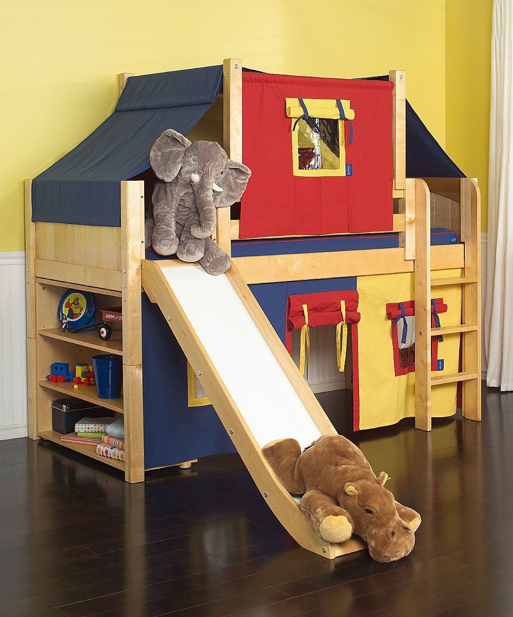 Slide for loft bed  I wonder if I could get my husband to make this  Big Boy Room
