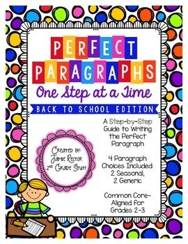 how to write a perfect paragraph