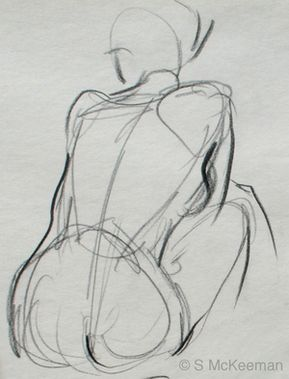 Applying contour drawing principles to figure drawing. Drawing the human form with line and color.: Gestural Structure