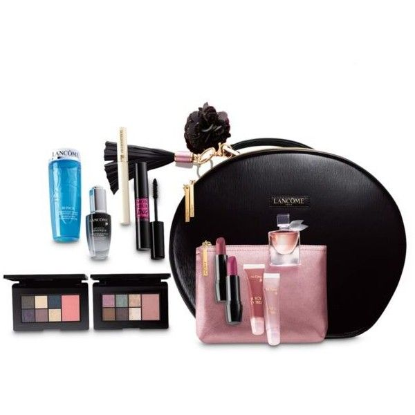 c262748c1e Lancôme Holiday Beauty Box ($64) ❤ liked on Polyvore featuring beauty  products, gift sets & kits, glam, toiletry bag, makeup purse, make up bag,  ...