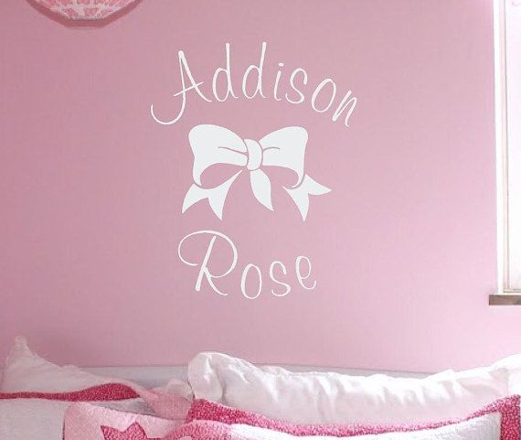 Custom Girls Name Wall Decal Personalized Wall Decal Girls - Custom vinyl stickers for girls