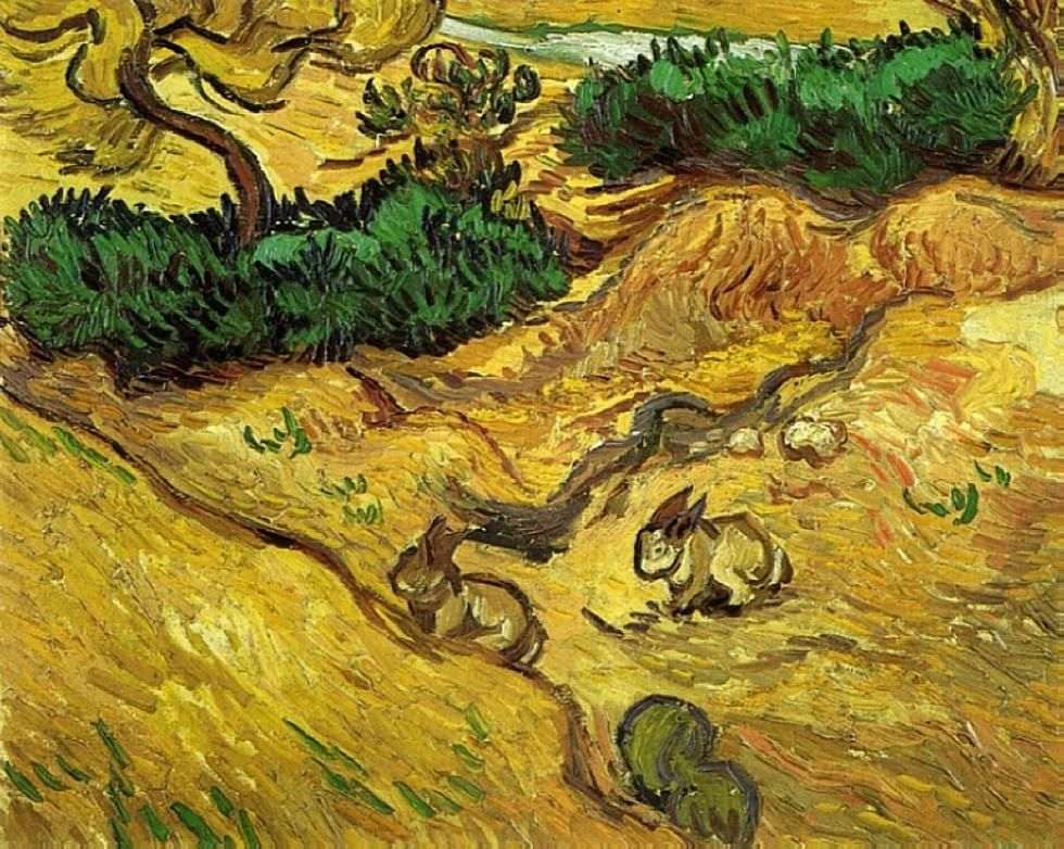 Field with Two Rabbits - Vincent van Gogh 1889, Van Gogh Museum, Amsterdam.