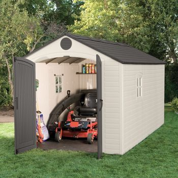 Costco Lifetime 174 8 Ft X 15 Ft Storage Shed Plastic