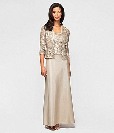 Alex Evenings Sequined Lace Jacket Dress #Dillards | Mother\'s bride ...
