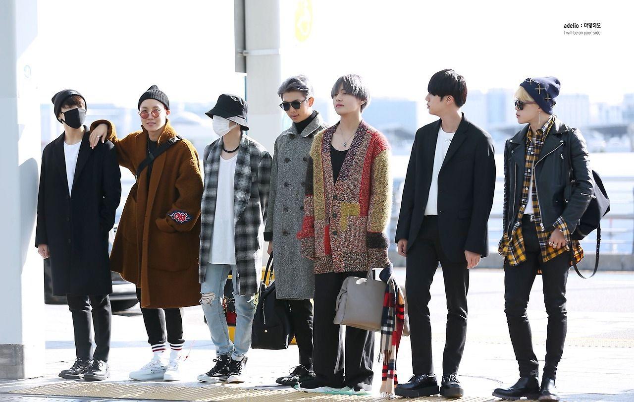 Usa Bound November 2017 Bts Airport Fashion Bts Airport Bts Usa Fashion