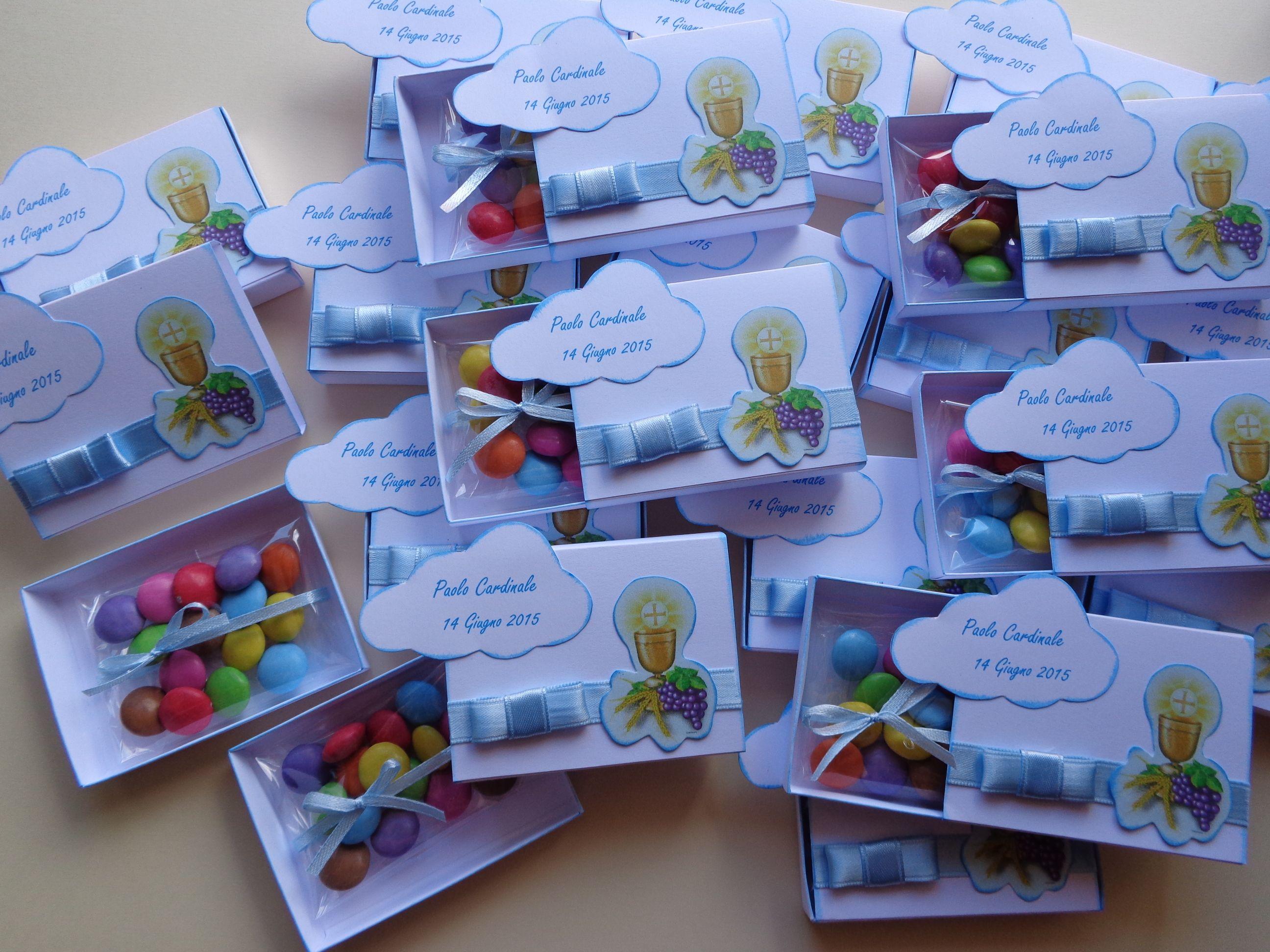 Porta confetti segnaposto per una prima comunione prima comunione pinterest comunione - Idee per segnaposto ...
