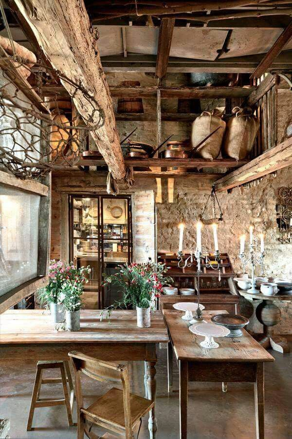 Rustic cabin interior Things to do Italian home