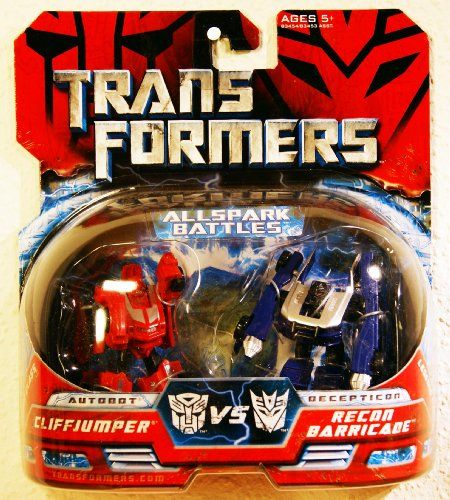 Transformers Movie Hasbro Mini Allspark Battles 2Pack Cliffjumper Vs Recon Barricade * Find out more about the great product at the image link.Note:It is affiliate link to Amazon.